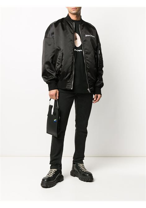 Giacca nera PALM ANGELS | BOMBER | PMEH002E20FAB0011001