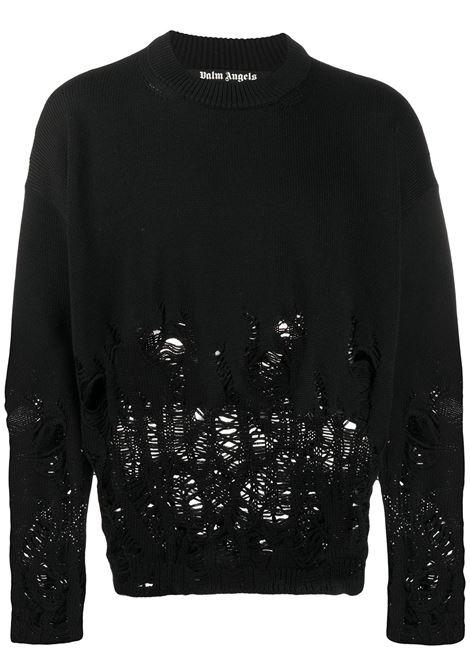 Black jumper PALM ANGELS | SWEATSHIRTS | PMHE007E20KNI0041001