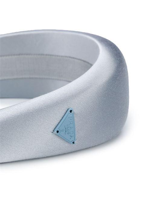 Cerchietto in seta (azzurro pallido) PRADA | CERCHIETTI | 1IH016049F0M10