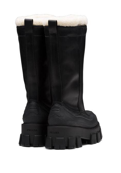 Black/beige boots PRADA |  | 1W380MFZF553A6NF0889