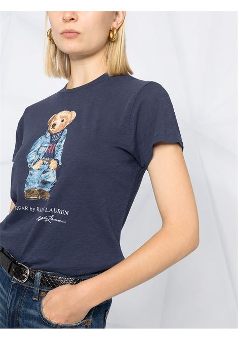 T-shirt blu scuro POLO RALPH LAUREN | T-SHIRT | 211785567002