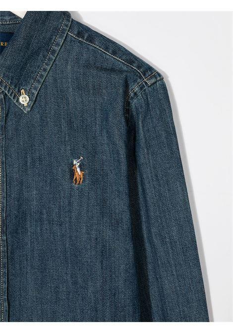 Camicia blu RALPH LAUREN | CAMICIE | 313698854001