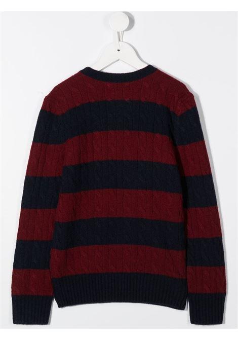 Maglione rosso/nero RALPH LAUREN | MAGLIONE | 321799421001