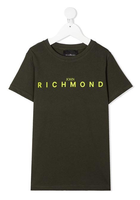 T-shirt verde RICHMOND | T-SHIRT | RBA20001TSFXGREENMIL