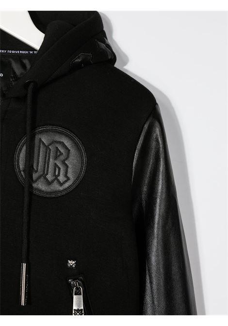 Giacca nera RICHMOND | BOMBER | RBA20065GBHBBLACK