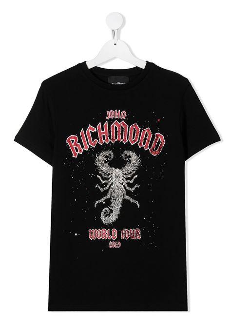 T-shirt nera RICHMOND | T-SHIRT | RBA20147TSJNTBLACK