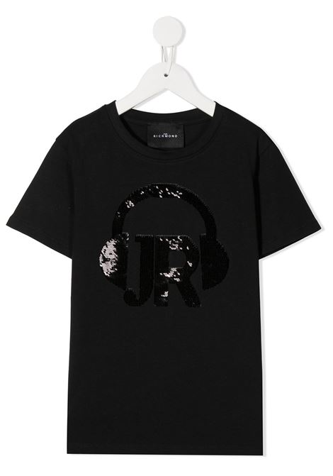 Black t-shirt RICHMOND | T-SHIRT | RGA20005TSHABLACK