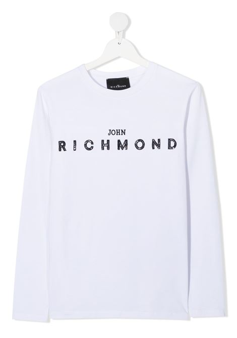 White t-shirt RICHMOND | T-SHIRT | RGA20010TST5TWHITEBLK