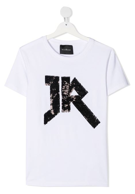 White t-shirt RICHMOND | T-SHIRT | RGA20049TSHATWHITESILVER