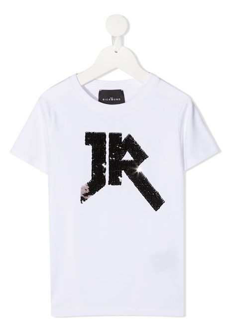 White t-shirt RICHMOND | T-SHIRT | RGA20049TSHAWHITESILV