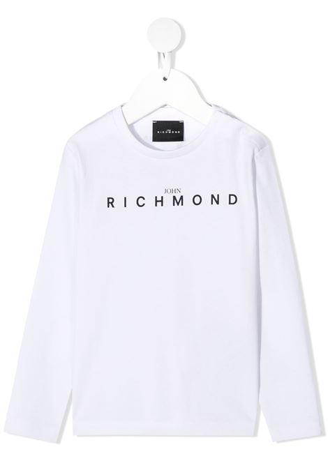 T-shirt bianca RICHMOND | T-SHIRT | RIA20021TSFXBWHITEBLK