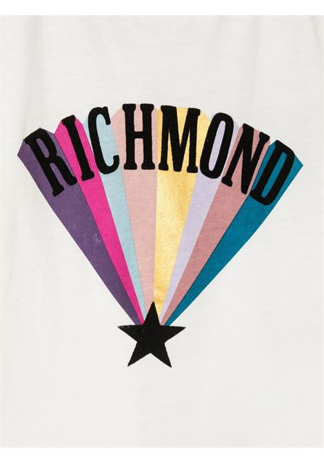 T-shirt bianca RICHMOND | T-SHIRT | RIA20103TST5BOFFWHITE