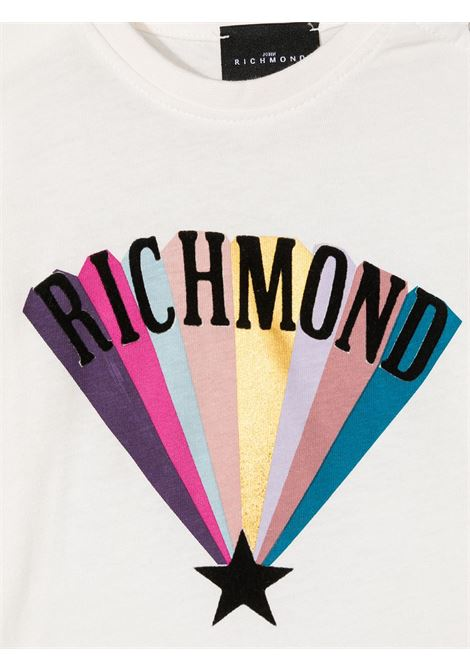 T-shirt bianca RICHMOND | T-SHIRT | RIA20103TST5OFFWHITE