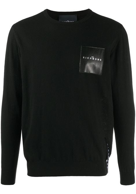 Black jumper RICHMOND | JERSEYS | RMA20042MAGDBLACK