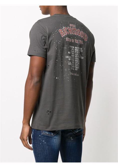 T-shirt verde RICHMOND | T-SHIRT | RMA20095TSA9GREYMED