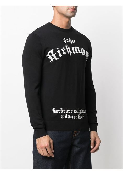 Black jumper RICHMOND | JERSEYS | RMA20136MANFBLACKWHT