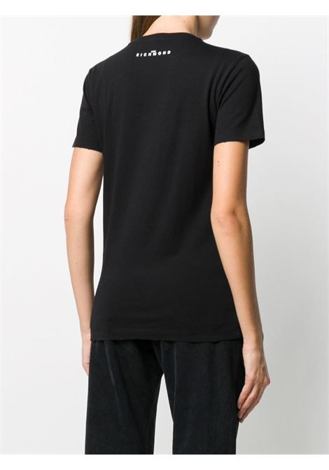 Black t-shirt RICHMOND | T-SHIRT | RWA20047TSDPBLACK