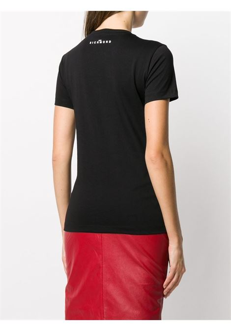 Black t-shirt RICHMOND | T-SHIRT | RWA20085TSDPBLACKWHT
