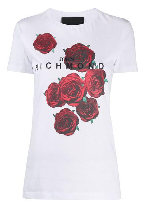 T-shirt bianca RICHMOND | T-SHIRT | RWA20085TSDPWHITEBLK