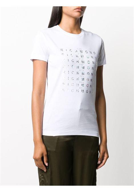 T-shirt bianca RICHMOND | T-SHIRT | RWA20175TSA9WHITE