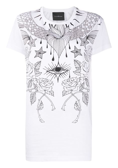 T-shirt bianca RICHMOND | T-SHIRT | RWA20255TSA9WHITE