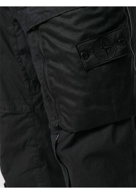 Pantalone nero STONE ISLAND SHADOW | PANTALONI | MO7319301B1V0029