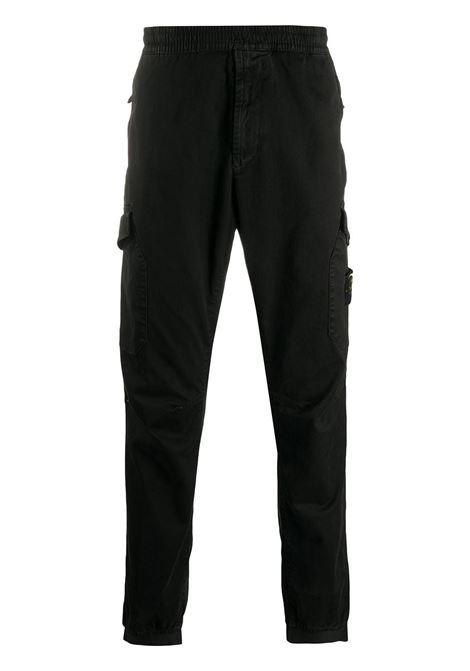 Pantalone nero STONE ISLAND | PANTALONI | MO7315314L1V0129