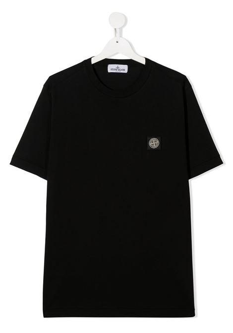 T-shirt nera STONE ISLAND | T-SHIRT | MO731620147TV0029