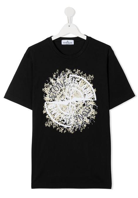 T-shirt nero STONE ISLAND | T-SHIRT | MO731621057TV0029