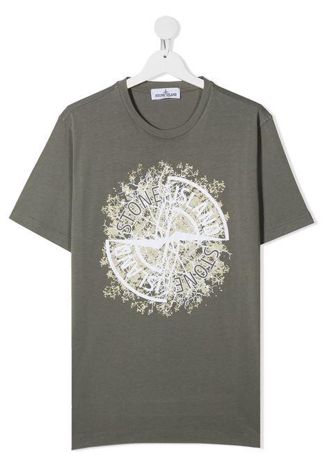 T-shirt verde STONE ISLAND | T-SHIRT | MO731621057TV0068