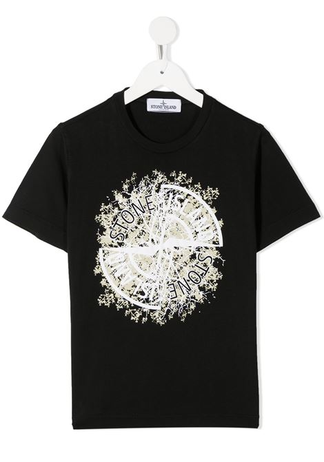 T-shirt nera STONE ISLAND | T-SHIRT | MO731621057V0029