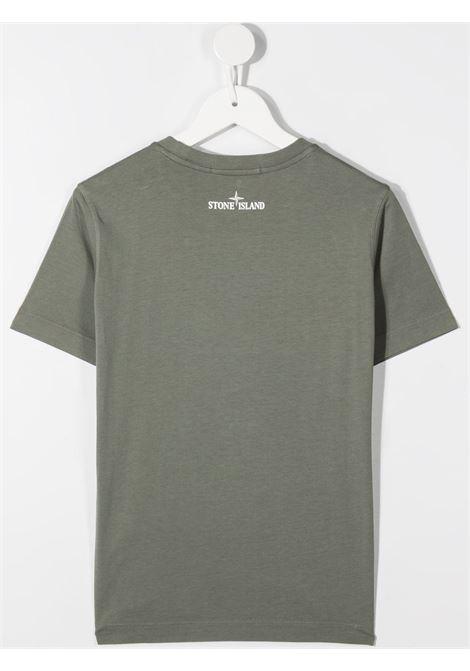 T-shirt verde fango STONE ISLAND | T-SHIRT | MO731621057V0068