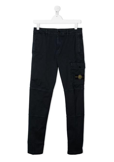 Pantalone blu STONE ISLAND   PANTALONI   MO731630411TV0128