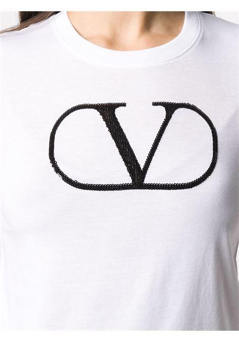 T-shirt bianca VALENTINO PAP | T-SHIRT | UB3MG07Z5Q20BO