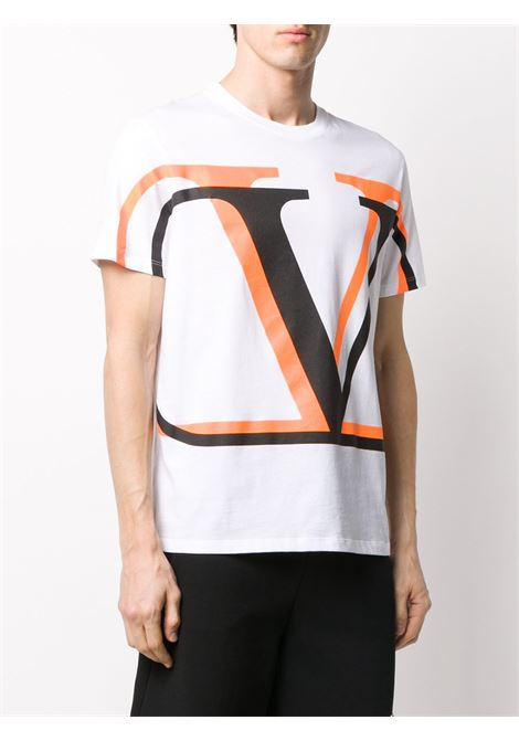 T-shirt bianca VALENTINO | T-SHIRT | UV3MG08C6K7LC5