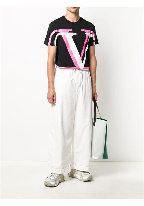 T-shirt nera VALENTINO | T-SHIRT | UV3MG08C6K7MG8