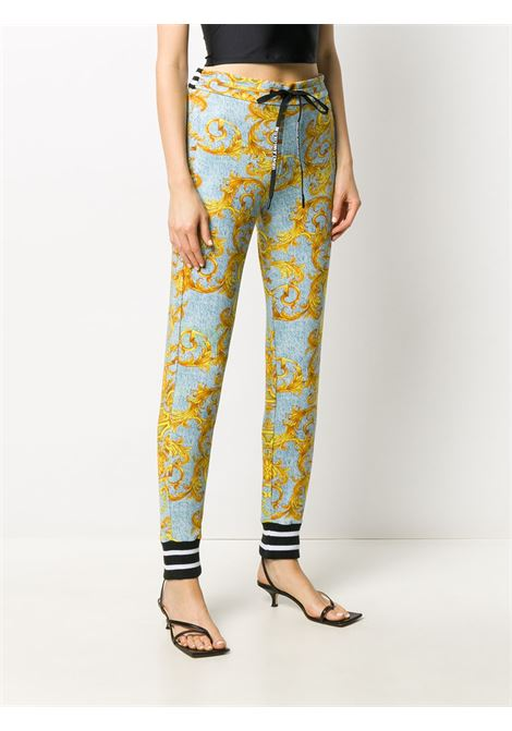Light blue/ yellow trousers VERSACE JEANS COUTURE      A1HZA150S0809218