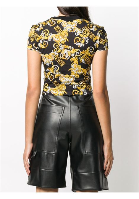 Black t-shirt VERSACE JEANS COUTURE      B2HZA709S0831899