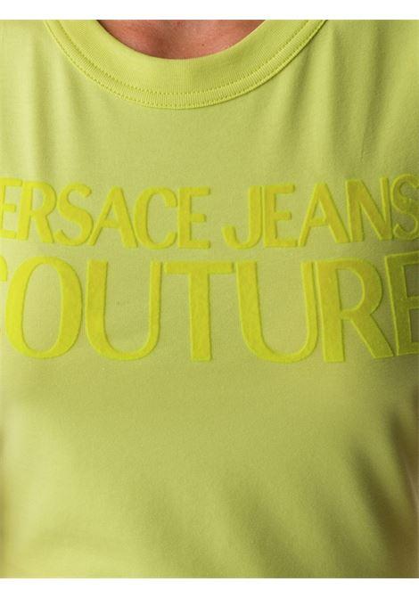 T-shirt gialla VERSACE JEANS COUTURE | T-SHIRT | B2HZA7GC30383119