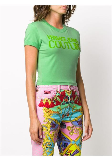 T-shirt verde VERSACE JEANS COUTURE | T-SHIRT | B2HZA7GC30383138