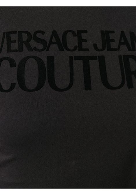 T-shirt nera VERSACE JEANS COUTURE | T-SHIRT | B2HZA7GC30383899