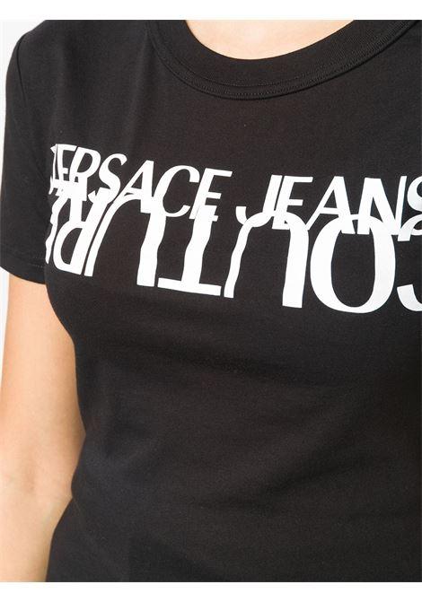 T-shirt nera VERSACE JEANS COUTURE | T-SHIRT | B2HZA7KB30327899