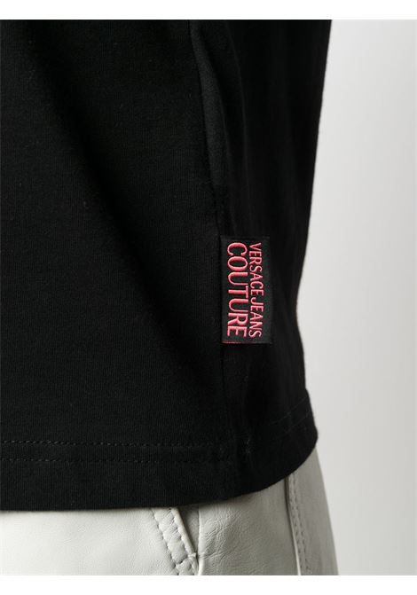 T-shirt nera VERSACE JEANS COUTURE | T-SHIRT | B2HZA7KF30327899