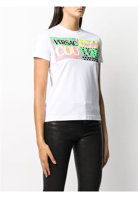 T-shirt bianca VERSACE JEANS COUTURE | T-SHIRT | B2HZA7PC30392003