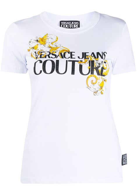 T-shirt bianca VERSACE JEANS COUTURE | T-SHIRT | B2HZA7TB30319003