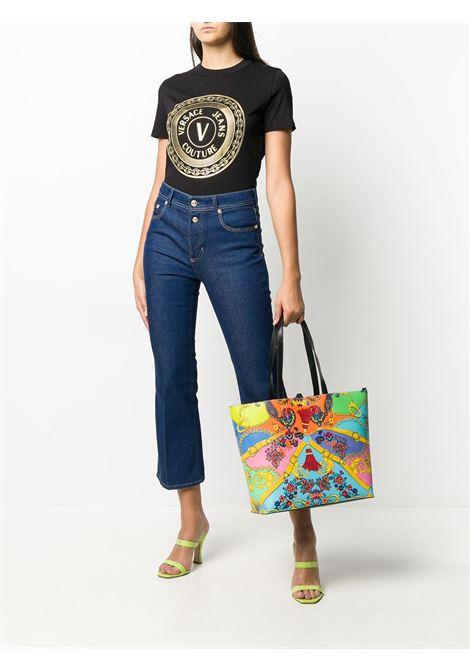 T-shirt nera VERSACE JEANS COUTURE | T-SHIRT | B2HZA7TK30319K42