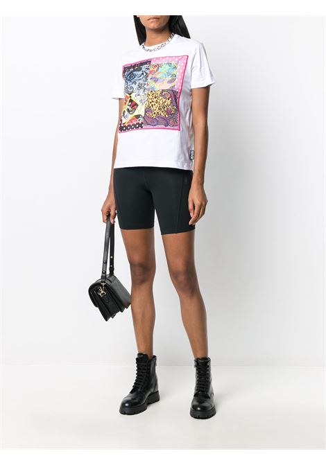 T-shirt bianca VERSACE JEANS COUTURE | T-SHIRT | B2HZA7VC30331003