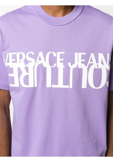 T-shirt lilla VERSACE JEANS COUTURE | T-SHIRT | B3GZA7KB30327304