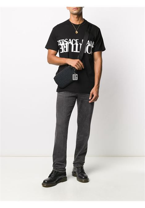 T-shirt nera VERSACE JEANS COUTURE | T-SHIRT | B3GZA7KB30327899