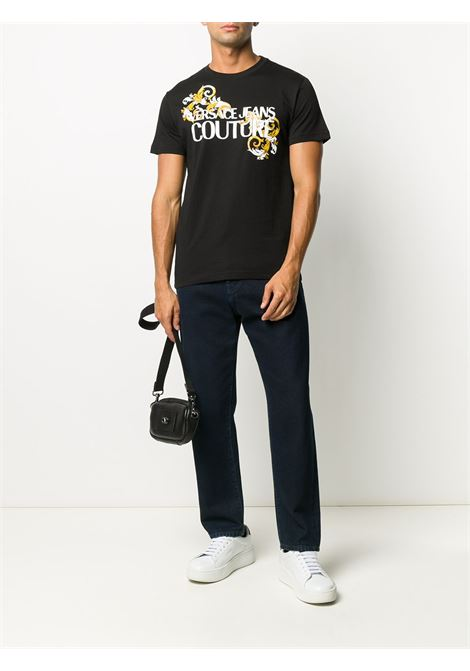 T-shirt nera VERSACE JEANS COUTURE | T-SHIRT | B3GZA7TB30319K42